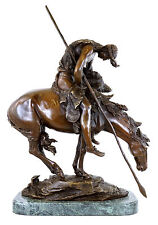 Sauvage indien personnage-End of the trail-bronze personnage-James Earle Fraser