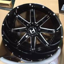 IN STOCK! 4 New 22x14 H109 Hostile Alpha Gloss Black Milled 8x170 Ford F250 350