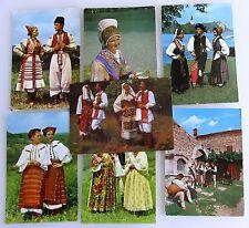 7x Ex-Jugoslawien Motive Trachten Volkstracht Personen in Trachten-Kleidung
