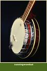 Caraya MR-5 Maple-Claret 5-String Banjo with Full Tone Ring + Gig Bag