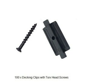 Composite Decking PVC Butting Clips  100 pack