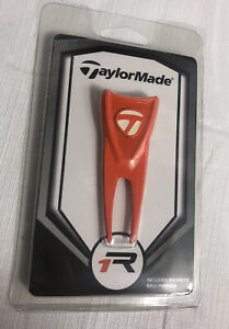 TaylorMade Divot Tool with Magnetic Ball Marker Orange Brand New Sealed