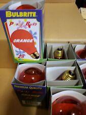Bulbrite 25 Watt Incandescent A19 Light Bulb Transparent  Orange