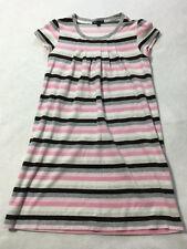 Gap Kids Girls XXL 14 The Dance Ballet Pink Gray White Stripe Velour Dress