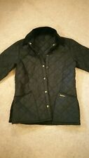 Barbour quilted jacket size xs, unisex, youth, ladies, black