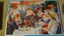 """1000pc Puzzle """"The Boating Party Luncheon"""" Renoir By King 19.1"""" x 26.8"""" Sealed"""