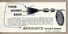 1954 Print Ad Mepps Super Shimmy French Spinner Fishing Lures Sheldons Antigo,WI