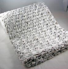 Kuscheldecke Faux Fur Beige Braun Rosetten - leichte Wohndecke 130x180 cm