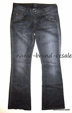 HUDSON Signature Boot JEANS Womens 28 x 31 Designer Bootcut Black Faded Denim