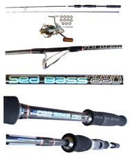 Kit Canna Sea Bass 2.20m 20/40g + Mulinello Xc Pesca Spinning Spigola Mare
