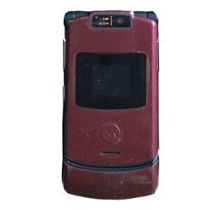 Motorola Razr v3xx Unlocked Flip Cellphone 1.3MP Camera Bluetooth Mobile Phone