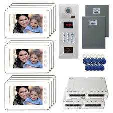 """Building Door Security Video Intercom System Kit with (11) 7"""" Color Monitors"""
