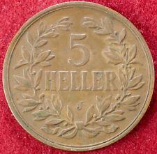 AFRICA ORIENTALE TEDESCA 5 Heller 1909 J (D2609)