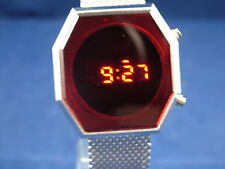 Reloj Digital Caballeros Moderno Grueso 1970s Vintage Style Retro LED LCD 12 y 24 H