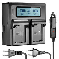 Neewer Dual-Channel Battery Charger with LCD Screen for Sony NP-FW50 Battery