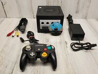Nintendo GameCube Console With Super Mario Sunshine Black DOL-001 USA Tested