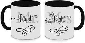 Tassen Twinset schwarz - Mr. & Mrs. Right