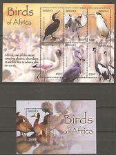 Vögel Pelikan Schuhschnabel ua. Burundi 1892797 + Block 145 postfrisch