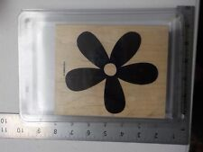 STAMPIN UP BIG BLOSSOM FLOWER BACKGROUND LARGE WOOD STAMPS EUC A7455