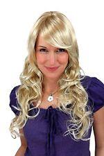 Damenperücke Wig LANG/GELOCKT Blond Mix Scheitel Haarersatz 60 cm 9329A-24BT613