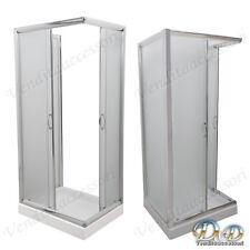 Box cabina doccia a tre 3 lati 70x90x70 centro bagno parete fissa opaco
