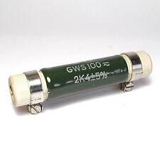 Draloric Leistungs-Widerstand 2.4 kOhm, 80 Watt, Typ GWS 100, NOS