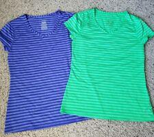 Danskin Now Athletic Womens Top Dri More Lot 2 M Purple Green Shirt T Exercise L