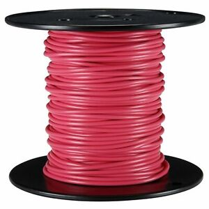 USA 100ft 24awg 24ga Copper Red Teflon Solid Silvered Wire 100'