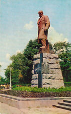 1973 Soviet postcard MONUMENT TO TARAS SHEVCHENKO IN ODESSA Russ / Ukr captions