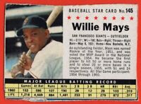 1961 Post #145 Willie Mays VG HOF San Francisco Giants Hall of Famer FREE S/H
