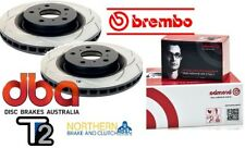 DBA T2 REAR SLOTTED ROTORS & BREMBO PADS  suit FORD FALCON BA-BF FG XR-6, XR-6T