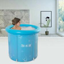 Erwachsene Aufblasbare Badewanne Faltbare Reise Dampfbad Sauna SPA Home Blau