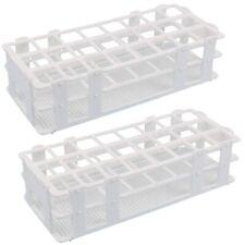 2pcs Plastic Test Tube Rack 24 Holes Lab Test Tube Rack Holder For 25mm Test