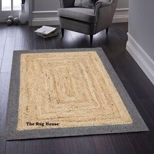 Jute Rug Handmade reversible rustic look area carpet runner rug home deocr rugs