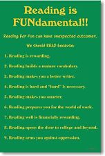 Reading is Fundamental - New Classroom Reading and Writing Poster