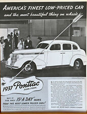 Vintage 1937 magazine ad for Pontiac - Silver Streak - Phenomenal Success
