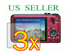 3x Sony CyberShot DSC-HX10V DSC-HX10 Clear LCD Screen Protector Guard Film