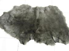 sheepskin shearling leather hide skin Dark Green Toscana silky long hair