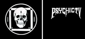 Psychic TV E23 Skull Cross Logo 1990s - RARE Original T-Shirt