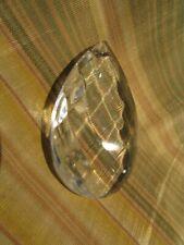 ancienne pampille de lustre en verre epoque 1900 8cm poire a facettes 1