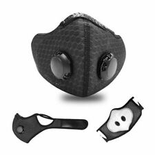 Sports Reusable Face Mask Activated Carbon Filter Exhale Valves(ShipsOutToday)