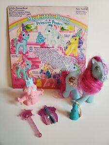 My Little Pony MLP G1 1987 Vtg Princess Ponies ROYAL BLUE & Bushwoolie Complete