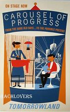 """DISNEY Carousel of Progress Tomorrowland Attraction Poster 12 x 18"""" AUTHENTIC!"""