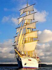 ART PRINT TRAVEL PHOTO SHIP BOAT TALL MAST SAIL SEA NAUTICAL RIGGING NOFL1346