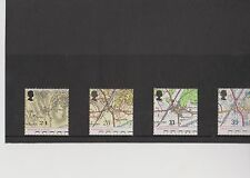 Set 4 GB Great Britain Stamps Ordnance Survey1991 Mint in folder never hinged