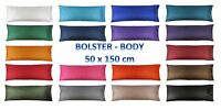 5 Feet BOLSTER Silk Pillow Case Cover Slip - Pregnancy Orthopaedic Support - Bed