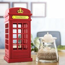Retro Telephone Booth Designed LED Desk Light Rechargeable Decoration Night Lamp