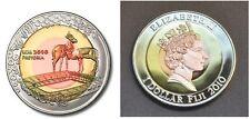 2010 Fiji Large Tri-metal  $1 World Cup Soccer/Animals-Antelope-Impala
