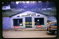 Rollinsville Colorado, Car Pepsi Kodak Coke Signs in 1950's, Original Slide e19a