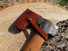 HAND-MADE BROWN LEATHER SHEATHS  GRANSFORS BRUKS  WILDLIFE AXE  tan